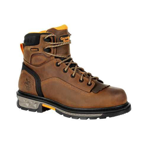 Georgia Mens Black/Brown Leather CarboTec LTX WP Work Boots