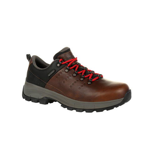 Georgia Mens Brown Leather Eagle Trail WP Hiking Oxford