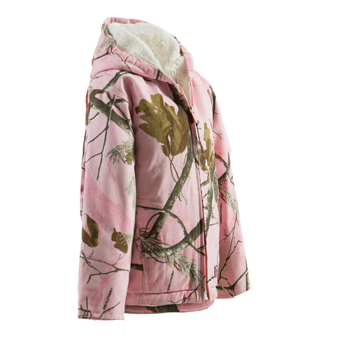 Berne Realtree Pink 100% Cotton Girls Daisy Sherpa Coat