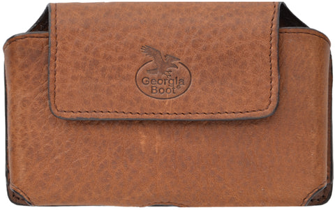 Georgia Light Brown Leather Unisex Smartphone Holder Pebble Grain