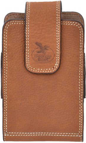 Georgia Light Brown Leather Unisex Smartphone Holder 3.5x5.5
