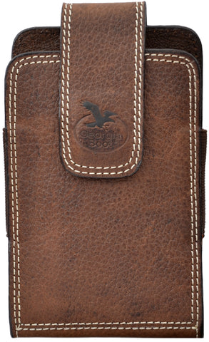 Georgia Dark Brown Leather Unisex Smartphone Holder 3.5x5.5