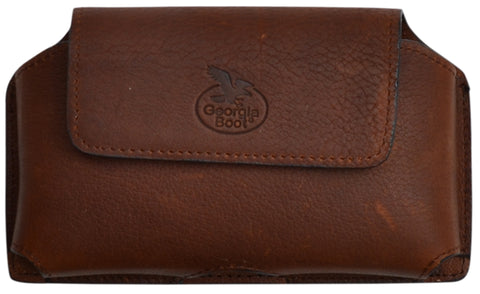 Georgia Brown Leather Unisex Smartphone Holder 6.5x4