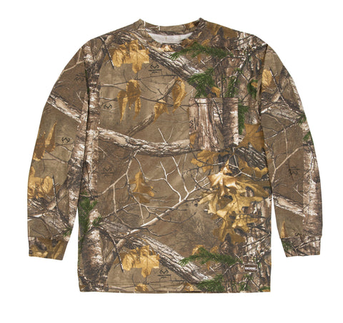 Berne Mens Realtree Xtra 100% Cotton Longshot Pocket Tee L/S