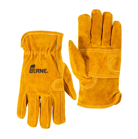 Berne Mens Gold Leather Classic Work Glove