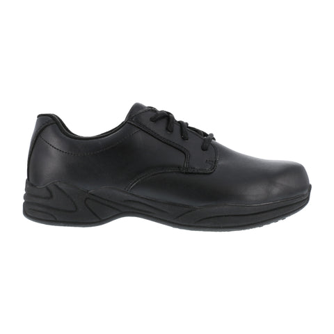 Grabbers Mens Black Faux Leather SR Casual Oxford Ava Soft Toe
