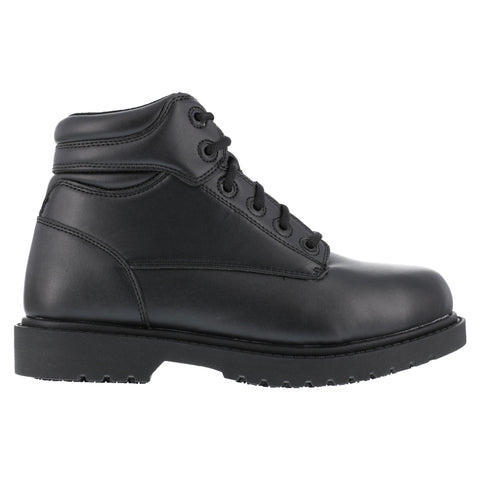 Grabbers Mens Black Faux Leather 6in SR Work Boots Kilo Steel Toe