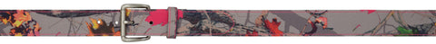 Angel Ranch Hotleaf Camo Leather Belt Outdoor Canvas