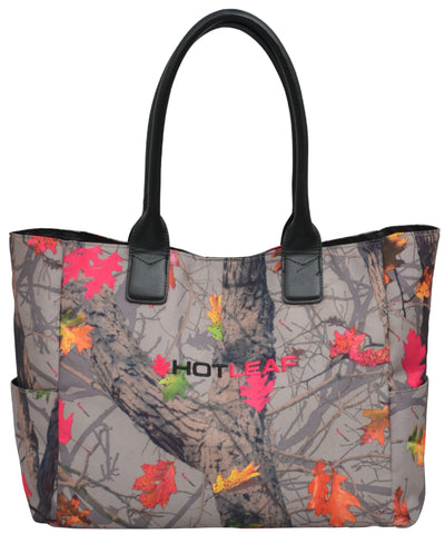 Angel Ranch Hotleaf Camo Canvas Tote Faux Leather