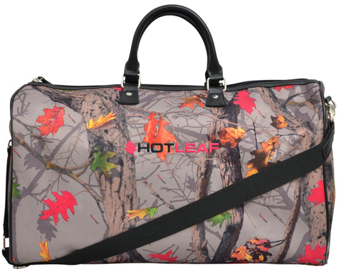 Angel Ranch Hotleaf Camo Canvas Duffle Bag Faux Leather