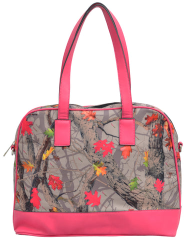 Angel Ranch Hotleaf Camo Canvas Satchel Purse Faux Leather