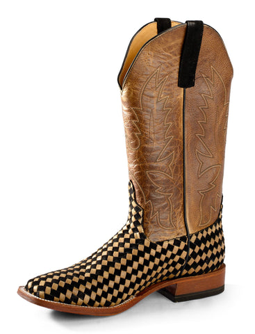 Horse Power by Anderson Bean Mens Moka Leather Cowboy Boots Unbeweavable