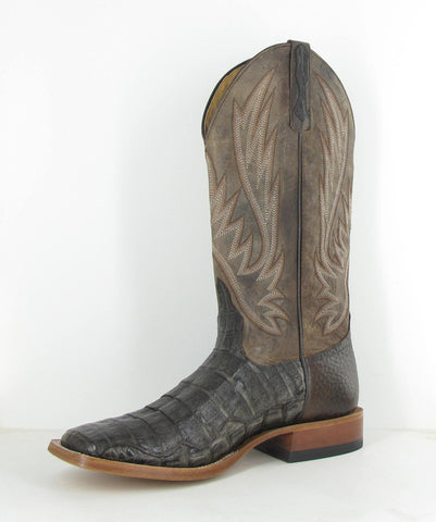Horse Power by Anderson Bean Mens Chocolate Caiman Skin Cowboy Boots