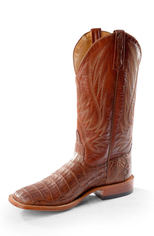 Horse Power by Anderson Bean Mens Cognac Caiman Skin Cowboy Boots