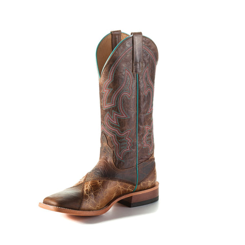 Horse Power by Anderson Bean Mens Bone Vail Leather Cowboy Boots Studly