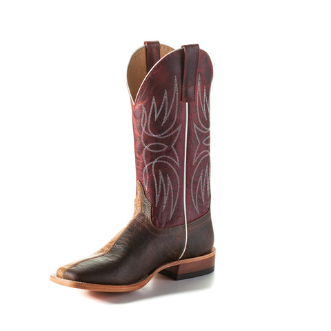 Horse Power by Anderson Bean Mens Red Leather Cowboy Boots Two Face