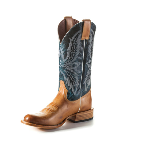 Horse Power by Anderson Bean Mens Navy Leather Cowboy Boots Haystack