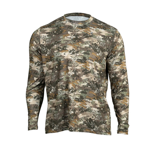 Rocky Mens Venator Camo Polyester Performance L/S Tee Shirt