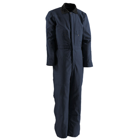 Berne Mens Navy 100% Cotton Deluxe Insulated Coverall