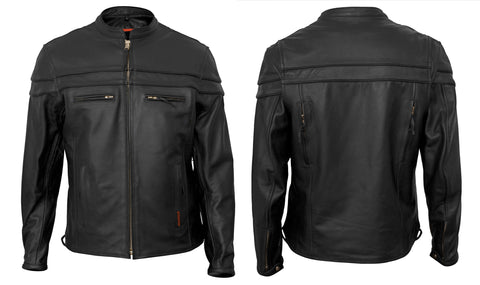 Interstate Rebel Mens Motorcycle Jacket Black Leather