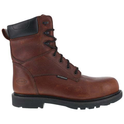 Iron Age Mens Brown WP Leather 8in Work Boots Hauler Composite Toe