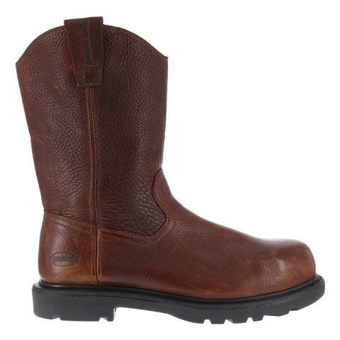 Iron Age Mens Brown Leather 11in Wellington Boots Hauler Comp Toe