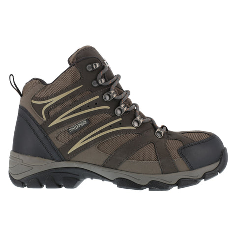 Iron Age Mens Brown WP Leather Mesh Hiker Boots Surveyor Steel Toe
