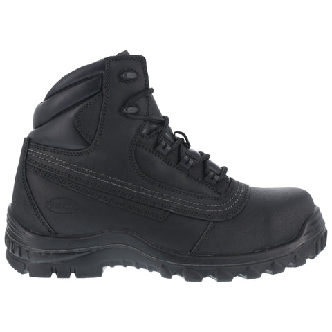 Iron Age Mens Black Leather Work Boots Backstop 6in Steel Toe