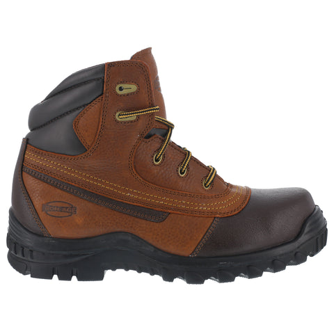 Iron Age Mens Brown Leather Work Boots Backstop 6in Steel Toe