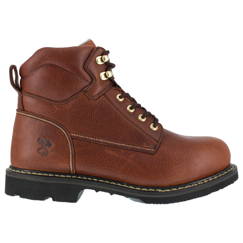 Iron Age Mens Brown Leather Work Boots Groundbreaker 6in PR ST