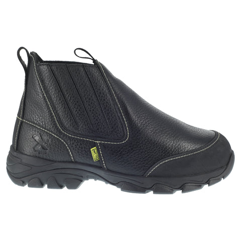 Iron Age Mens Black Leather Work Boots Galvanizer Internal MetGuard