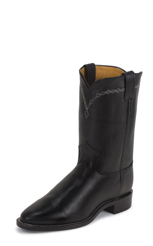 Justin Mens Black Cowhide Leather Western Boots 10in Chester