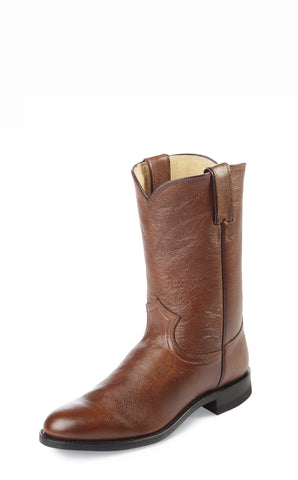 Justin Mens Tan Corona Leather Western Boots 10in Roper
