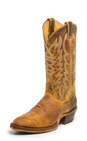 Justin Bent Rail Mens Cognac Keaton Leather Cowboy Boots