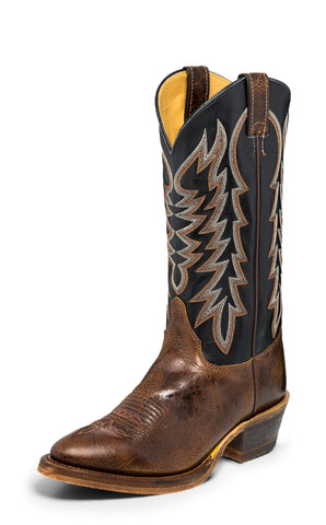 Justin Bent Rail Mens Brown/Black Keaton Leather Cowboy Boots