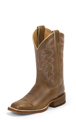 Justin Womens Cognac Leather Western Boots 11in Bent Rail America
