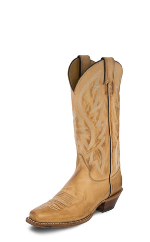 Justin Bent Rail Womens Tan Quinlan Leather Cowboy Boots