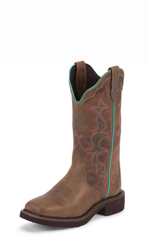 Justin Womens Tan Leather Western Boots Classic Gypsy Jaguar