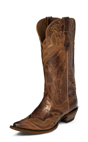 Justin Womens Maple Nadya Leather Cowboy Boots 9B