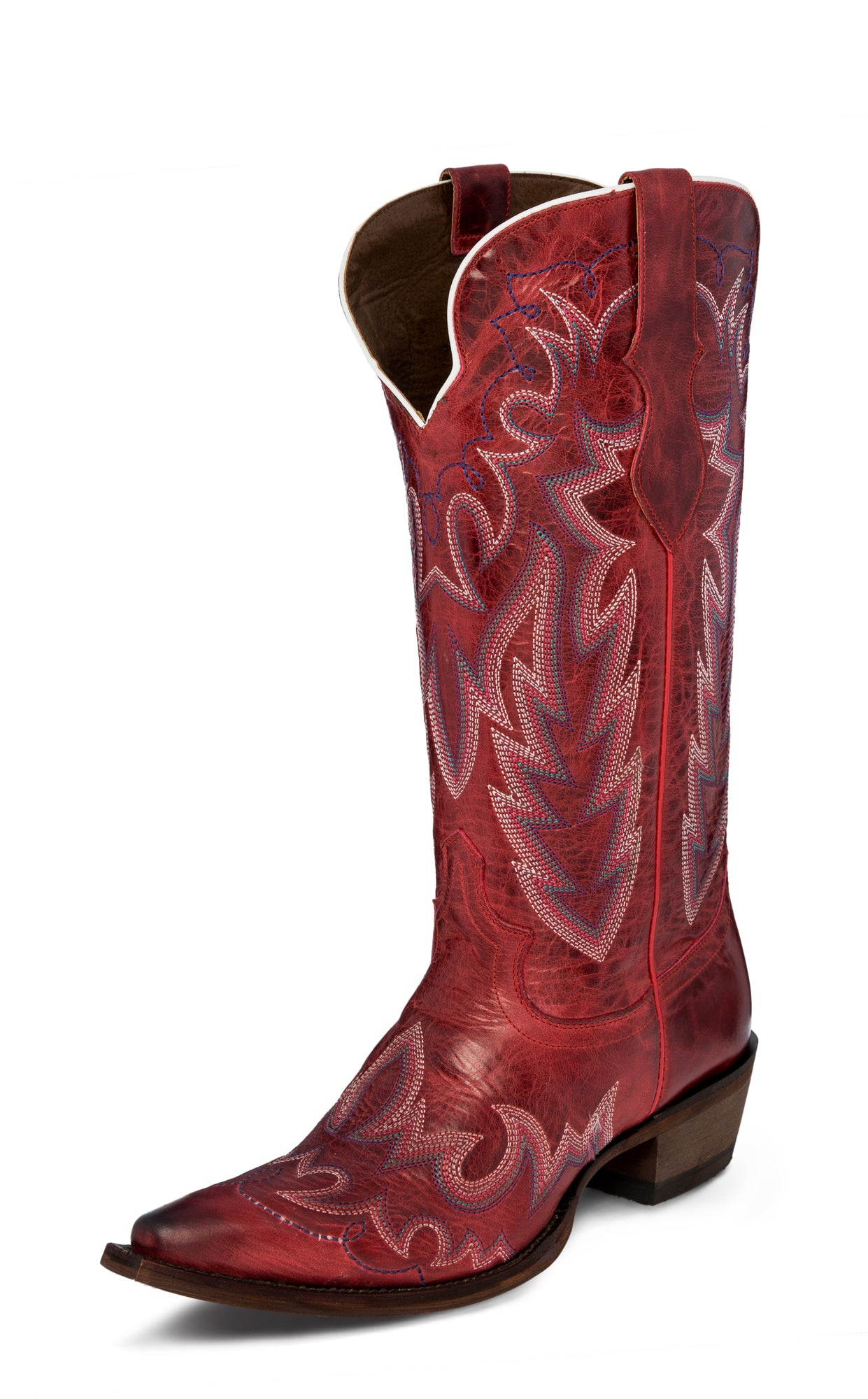 180258d0f66 Justin Womens Redstone Elina Leather Cowboy Boots