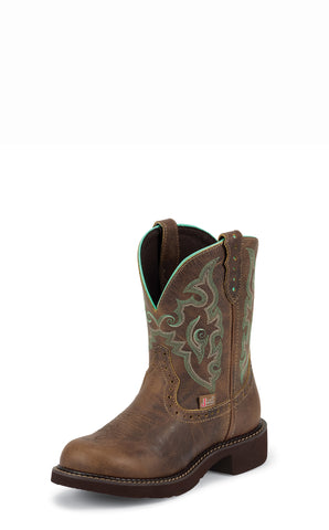 Justin Womens Tan Jaguar Leather Western Boots 8in Gypsy