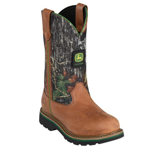 John Deere Womens Mossy Leather 10in Classic Pull-On Cowboy Boots