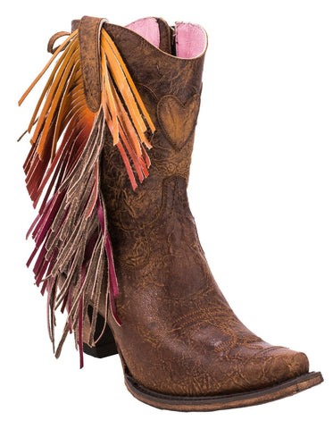 Junk Gypsy by Lane Boots Brown Leather Spirit Animal Cowgirl