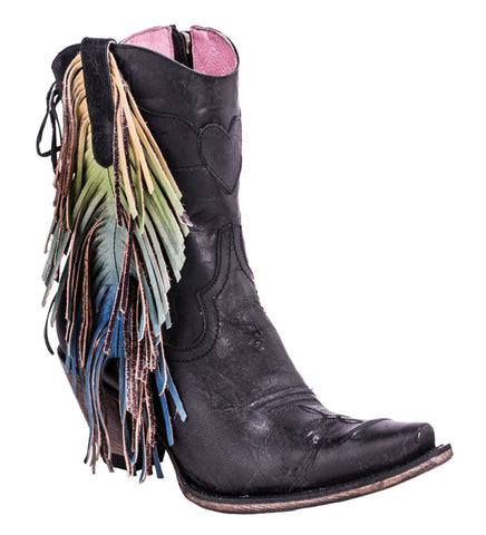 Junk Gypsy by Lane Boots Black Leather Spirit Animal Cowgirl
