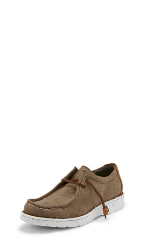 Justin Moc Toe Mens Clay Hazer Leather Slip-On Shoes