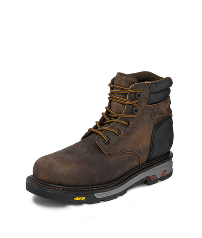 Justin CT EH WP Mens Whiskey Drywall Leather Work Boots