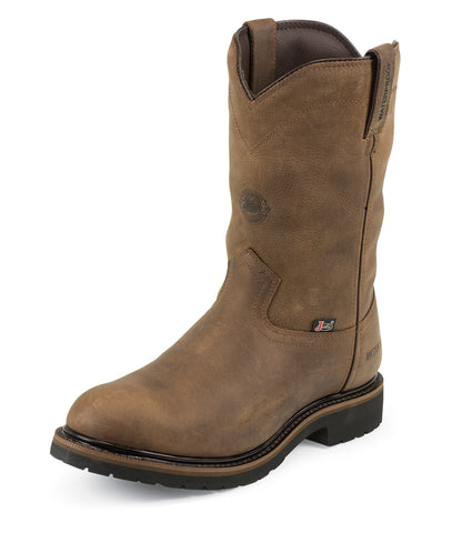 Justin Mens Wyoming Leather Work Boots Waterproof Insulated Worker II