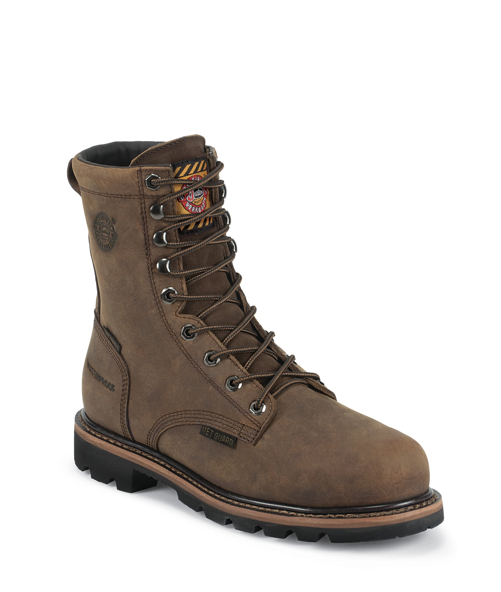 Justin Mens Wyoming Leather Work Boots