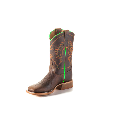 Anderson Bean Kids Toast Bison Leather Cowboy Boots Moka Sabotage
