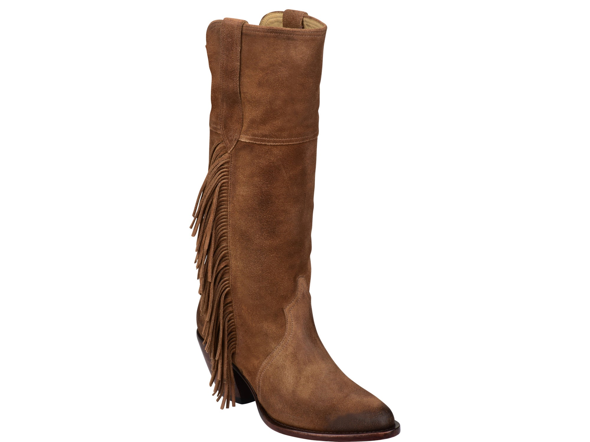 f9af04a1540 Lucchese Womens Cowboy Boots Bridle Brown Suede Leather